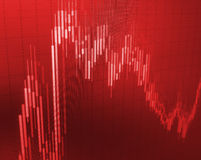 Stock loss crisis crash in red color. Stock Photo