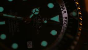 Stock macro video Rolex Watch stock footage