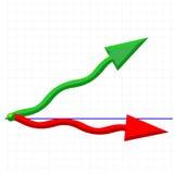 Stock market. Business arrow chart in stock market Stock Photography