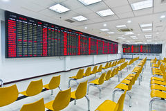 Stock market. The hall of a stock company in china. ready to open royalty free stock images