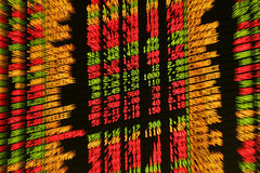 Stock market. Display of stock market prices. Blurred stock images