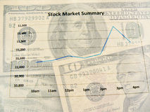 Stock market. Scene with U.S. dollars Royalty Free Stock Photos