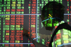 Stock market. Investor saw the stock index. Photo took in Jan. 13, 2012 in Taiwan Stock Photos