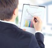 Stock market. Graphs monitoring Royalty Free Stock Photos