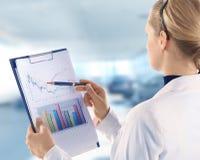 Stock market. Graphs monitoring Stock Photos