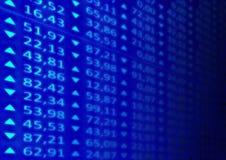 Stock Market. Illustration of a stocks market ticker board Royalty Free Stock Photo