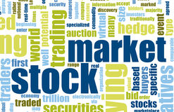 Stock Market. Terms As a Abstract Background Royalty Free Stock Photography