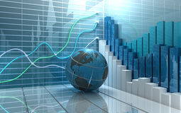 Stock market abstract background Royalty Free Stock Image
