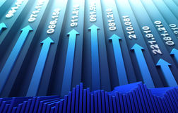 Stock market abstract background. 3D image Royalty Free Stock Photos