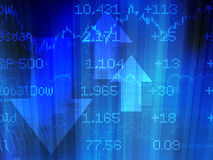 Stock Market Abstract in Blue Stock Photography