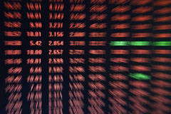 Stock market. Abstract blur of stock market board Royalty Free Stock Images