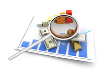 Stock market analysis Royalty Free Stock Images