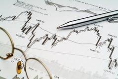 Stock Market Analysis. Business image of stock market chart analysis stock photos