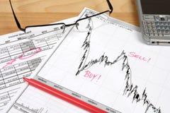 Stock market analysis stock photography
