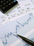Stock market analysis. Stock market chart for investor analysis. Click here for all images in this series stock image