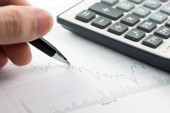 Stock market analysis Royalty Free Stock Images