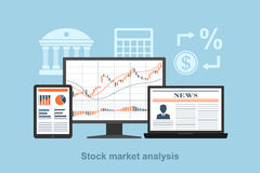 Stock market analysis Stock Photo