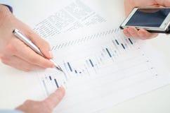 Stock market analyzing Royalty Free Stock Images