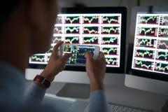 Stock market application Stock Photo
