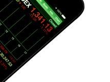 Stock market application Stock Photography