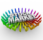 Stock Market - Arrows Rising Royalty Free Stock Image