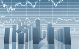 Stock Market Bar Chart Stock Images