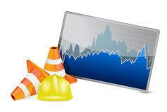 Stock market barrier of protection Royalty Free Stock Photo