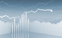 Stock Market Bars and Arrows Stock Image