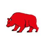 Stock market bear Stock Photo