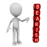 Stock market bear sentiment Stock Images