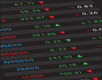Stock Market Board Royalty Free Stock Images