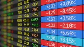 Stock Market board loop-ready HD stock video footage