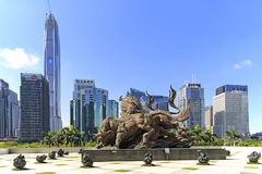 Stock market building in Shenzhen Royalty Free Stock Photo
