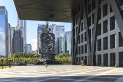 Stock market building in Shenzhen. Shenzhen, China - August 19,2015: Stock market building in Shenzhen, one of the three stock markets in China. The others two royalty free stock photography