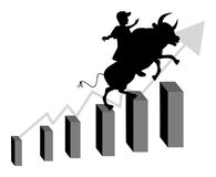 Stock market bull Royalty Free Stock Images