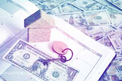 Monthly Saving and Planning Money for Expense Business Finance and Loan Concept Stock Images