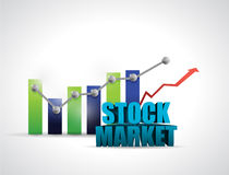 Stock market and business graph illustration. Design graphic over white Stock Photo