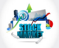 Stock market business tools illustration. Design graphic over white Royalty Free Stock Photos