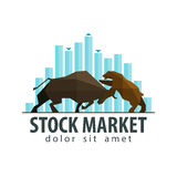 Stock market, business vector logo design template Royalty Free Stock Photo