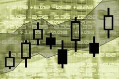 Stock market chart. Candle stick stock market exchange chart illustration Royalty Free Stock Image
