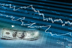 Stock market chart Stock Photography