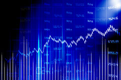 Stock market chart. On abstract background stock illustration