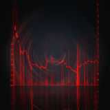 Stock market chart. Illustration of the red stock market chart Stock Images