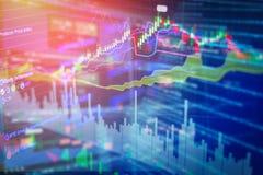 Stock market chart analysis image background Royalty Free Stock Image