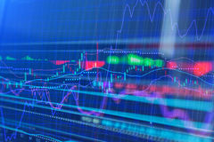 Stock market chart background. Business concept Royalty Free Stock Images