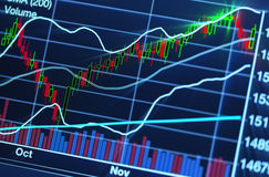 Stock market chart. Close up photograph of stock market chart royalty free stock images