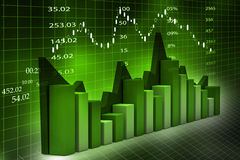 Stock Market Chart. 3d illustration of Stock Market Chart Stock Image