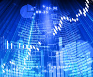 Stock market chart Royalty Free Stock Image