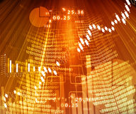 Stock market chart. Digital display background Stock Images