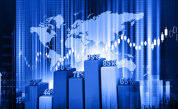 Stock market chart Royalty Free Stock Photo